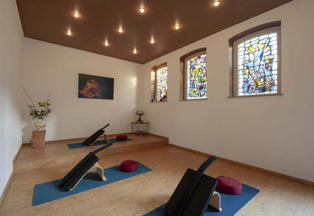 Yoga studio zijaanzicht
